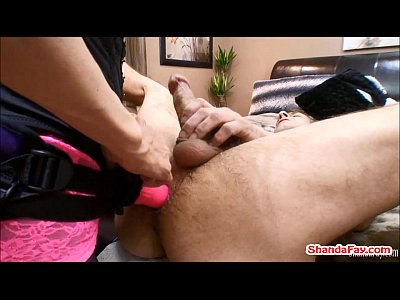 Strapon Femdom Brunette video: Hot MILF Shanda Fay Pegs Man In His Ass With A HUGE Vibrator!