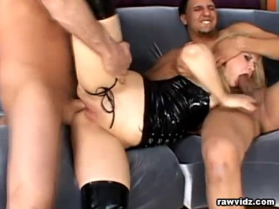 Anal Assfuck Bigcocks video: Nasty blonde has raw DP sex