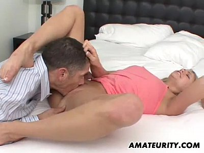 Hardcore Teen Blowjob video: Blonde amateur girlfriend enjoys a big cock