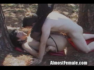 Transexual outdoor fuck