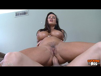 Tits Oral Blowjob video: Hot brunette Lisa Ann gets ass fucked