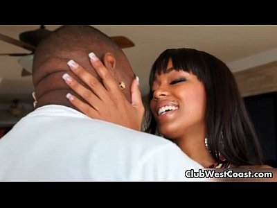 Interracial Hardcore video: Hot black babe Tila Flame is having