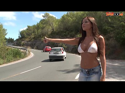Ass Blowjob Boobs video: Busty Hitchhiker Fucks For a Ride