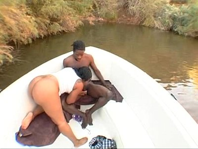 Blowjob Brunette Cock video: Honey Daniel gets her big black ass fucked on a boat