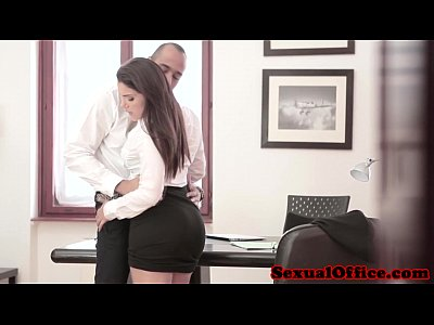 Masturbation Blowjob Glasses video: Beautiful office worker cant keep legs closed