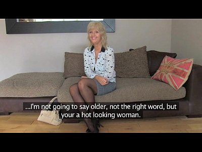 British Pov Milf video: FakeAgentUK Mature MILF wants young stud cock on demand