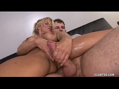 Bigtits Blonde Domination video: Sexy Milf Handjob Domination