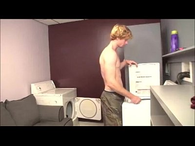 Double Room Laundry video: Double Handjob In The Laundry Room