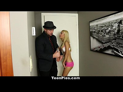Bedroom Bigcock Blonde video: TeenPies - Skinny Blonde Gets Cream Filled