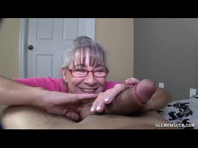 Milf Mature Granny video: Horny Granny Sucks A Young Dick