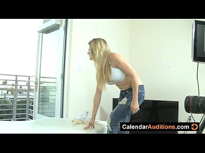 Calendar Audition With Hot Blonde Amateur
