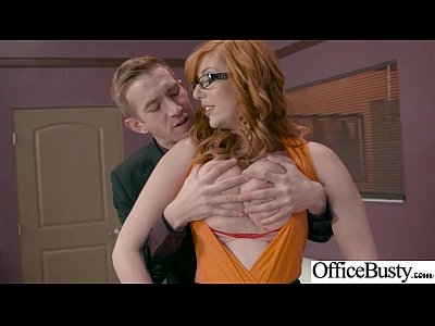 (Lauren Phillips) Girl With Round Big Tits In Hard Style Sex In Office clip-13