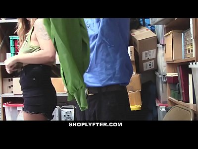 Office Busty Police video: Shoplyfter - Big Tittied Teen Groped and Fucked