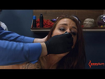 Bdsm Domination Submissive video: Anal virgin gets painful anal stretching with ass to mouth