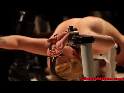 Bondage Discipline Dom video: Blonde bdsm sub flogged by domina
