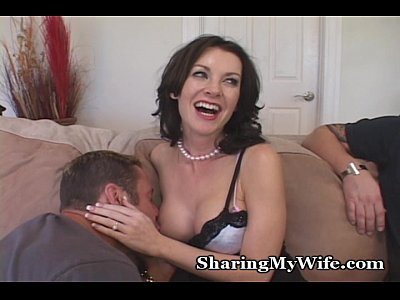 Blowjob Glasses Brunette video: Housewife Is Shy At First...