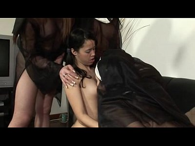 Horny sexy trannies in gangbang by tig89