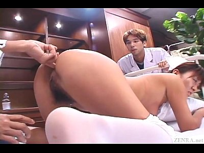 Fingering Uniform Nurse video: Uncensored Japanese nurse CMNF anal inspection Subtitled