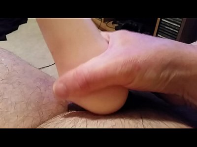 Amateur hairy guy fucks rubber pussy till he cums inside pulsating