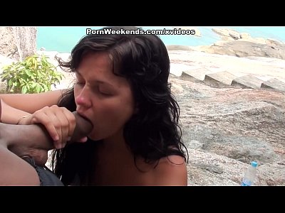 Girl Porn World video: Hot fuck near the stone wall