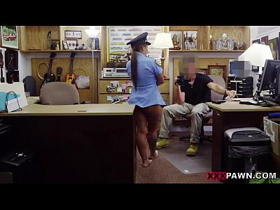 Babe in a police uniform banged up her tight butt on xxxpawn.pornotagir.com