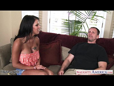 Blowjob Brunette Busty video: Busty wife Peta Jensen take cock