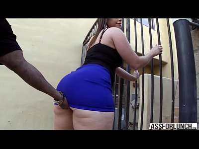 Fat ass brunette lady Virgo tries interracial anal sex
