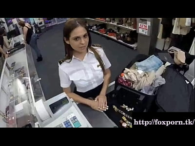 Bigcock Bigdick Blowjob video: Cute stewardess needs money and visits a dirty pawn shop