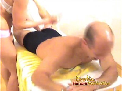 Humiliation video: Hurting this poor slave with a fork and chokeing him