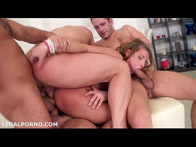 Gangbang porn vid triple penetration did not
