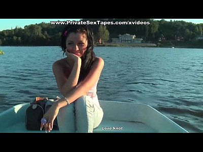 Blowjob Brunette Private video: Hot couple naked and pairing off heavily in the boat
