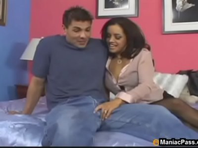 Anal Stockings video: Anal interview