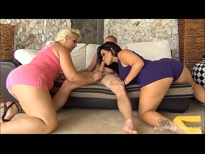 Latina Booty Angelina video: Angelina Castro & Selah Rain Fuck A White Guy!
