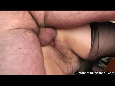 Mommy Grandmother video: Grandma shallows two cocks then fucks