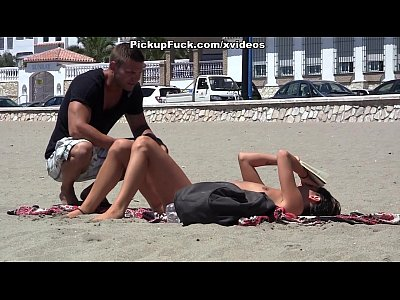 Public Outdoor Girls video: young Spaniard pickup on the beach for $ 37 and fucked