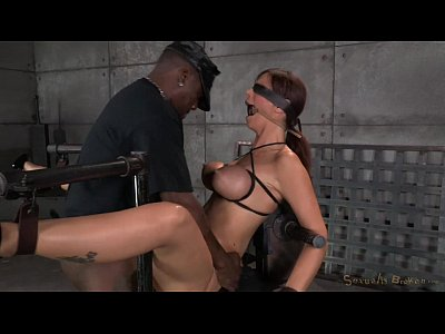 Bdsm Brunette Milf video: MILF blowjob in plastic wrap