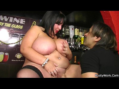 Atwork Bigtitsatwork Bigtitsboss video: Fat barmaid getting fucked at work