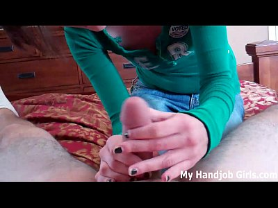 Bdsm Femdom Handjob video: Getting a handjob from bratty Chloe