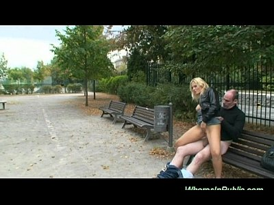 Euro Girls Nudity video: Nymph rides boner on park bench