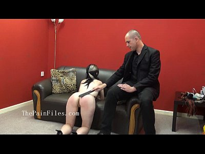 Riding crop spanking of sexually dominated Fae in bruising whipping by her maste