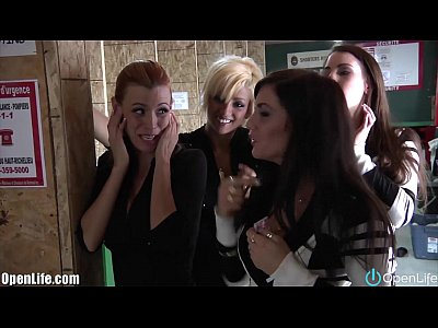 Amateurs Euro European video: OpenLife FRENCH sisters & friends with Loaded GUNS!