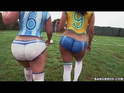 Asses Assfucking Assfucking video: Big ass latinas playing soccer before fucking