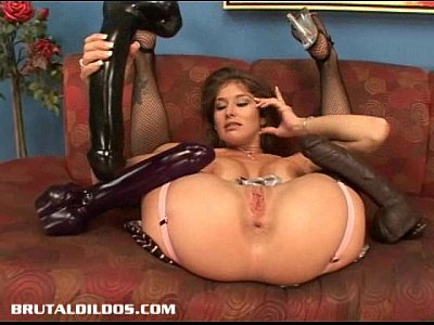 Toys Brunette Solo video: Busty babe Felony fills her pussy with a monster dildo