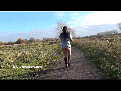 British Brunette Flashing video: Toying british brunette Honestys outdoor masturbation and public nudity of flash