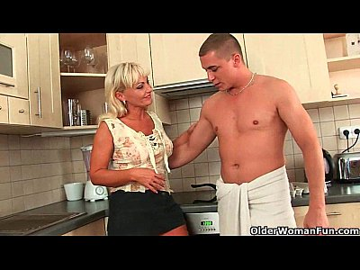 Matures Milfs Old video: Mature mom knows how to unload a cock