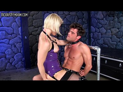 Porno video: Ash Hollywood BALLBUSTING STRAPON CHASTITY CBT FEMDOM