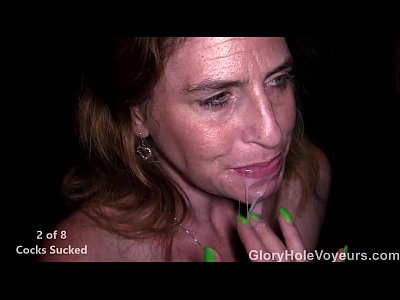 Blowjob Milf movie: Readhead MILF Sucks Two Cock Gloryhole