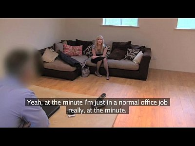 FakeAgentUK Sweet blonde desperate to get back into the business