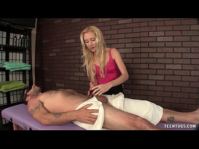 Tiny dominant girl handjob