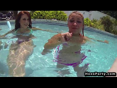 Hardcore Group Sex video: Teens at pool orgy party outdoors